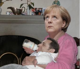 Angela Merkel en Nicolas Sarkozy redden samen de euro
