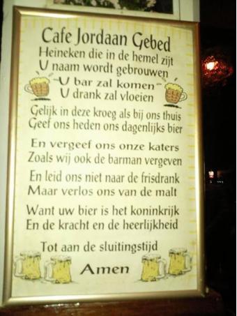 Gebed van Café Jordaan