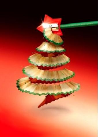 potlood kerstboom